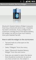 Screenshot of Bluetooth Headset Battery