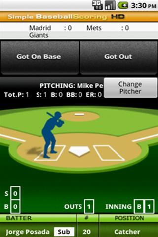 Simple Baseball Scoring HD - screenshot