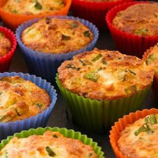 Gluten-Free Breakfast Muffins with Zucchini, Feta, and Quinoa.