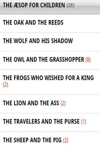 Aesop's Fables for children - screenshot