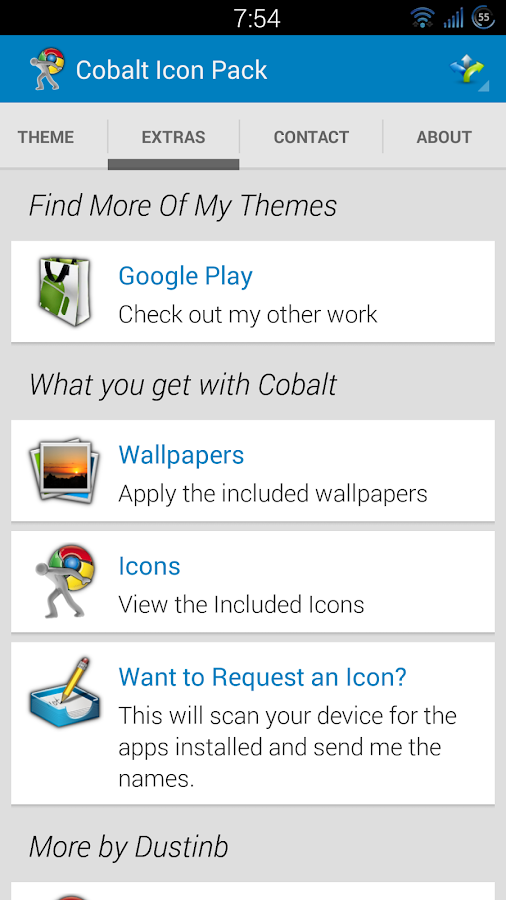 Cobalt Icon Pack - screenshot