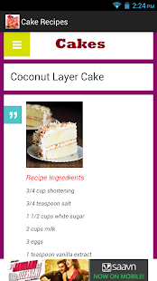 Cake Recipes App- screenshot thumbnail