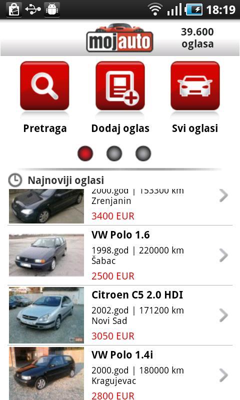 MojAuto- screenshot