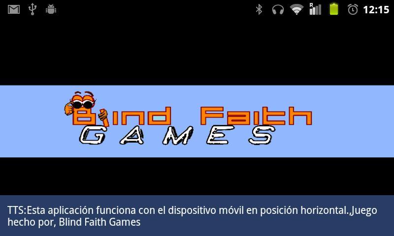 Zarodnik BFG (Eyes-free game)- screenshot