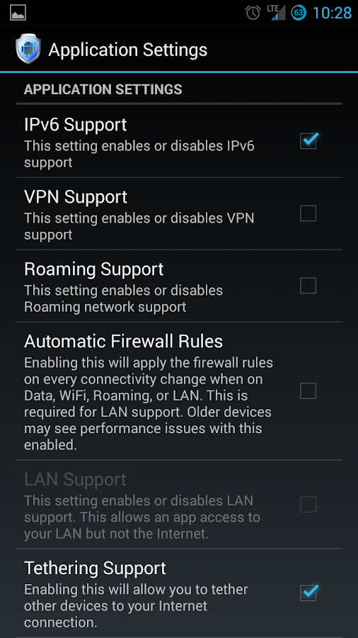 Android Firewall - screenshot