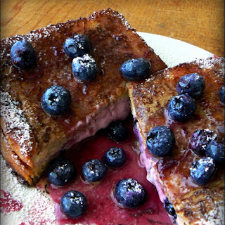 Maples Inn Blueberry Stuffed French Toast.