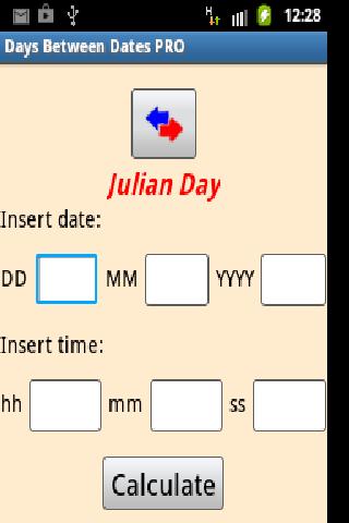 Days between dates online