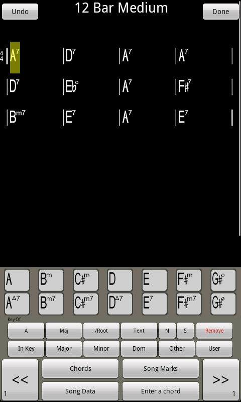 ChordPad - Android Chord Book - screenshot