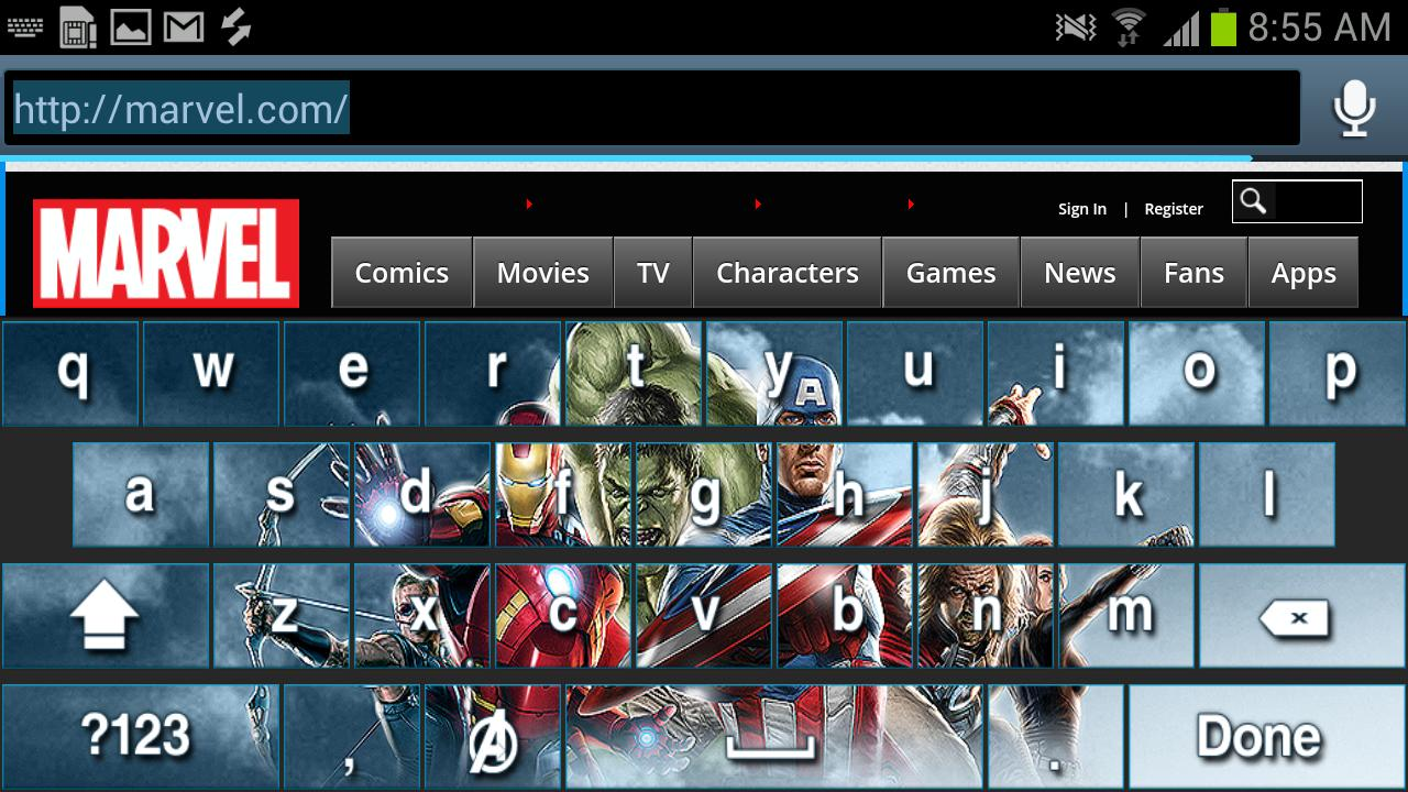 Avengers Keyboard Skins - screenshot