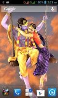 Screenshot of 3D Radha Krishna Jhulan LWP