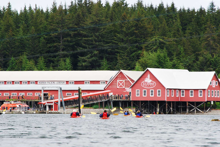 A kayak tour out of Icy Strait Point, Alaska.