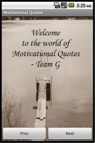 Motivational Quotes by TeamG - screenshot