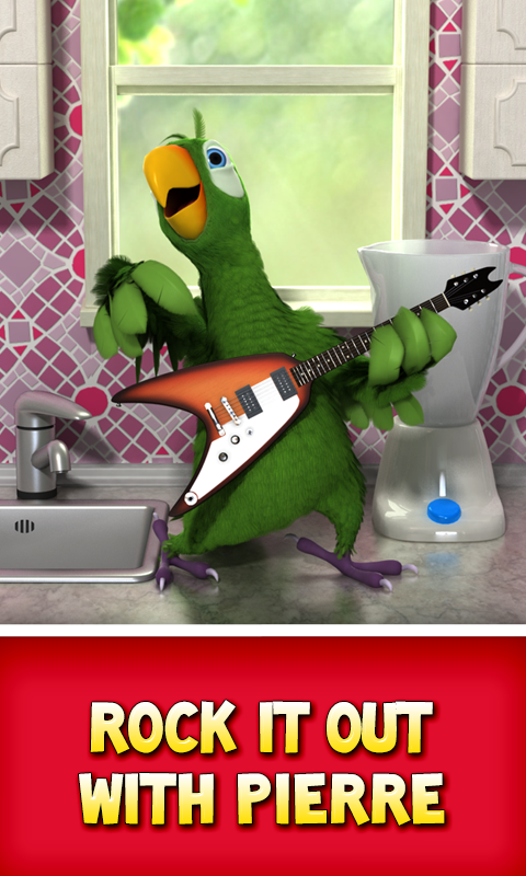 Talking Pierre the Parrot Free - screenshot
