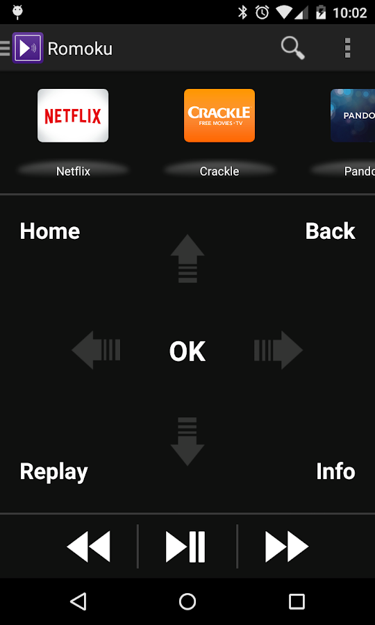 Romoku - Remote for Roku - screenshot
