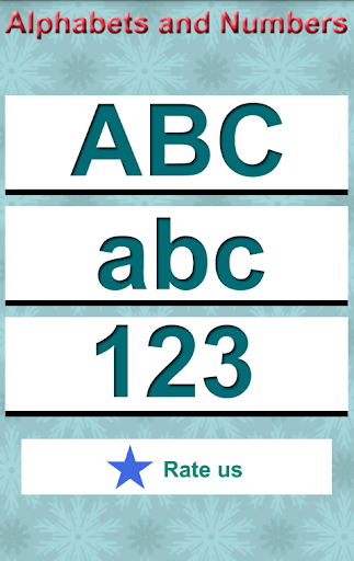 Write Alphabets and Numbers
