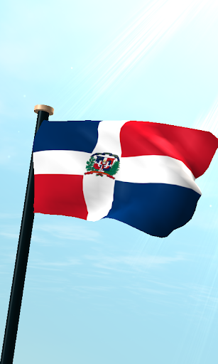 多明尼加共和國旗3D免費動態桌布