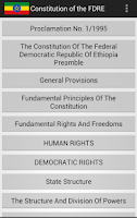 Screenshot of Constitution of FDR' Ethiopia