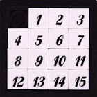Number slide school game icon