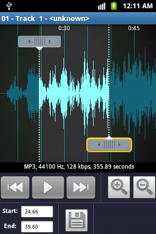 MP3 Ringtone Maker Screenshot