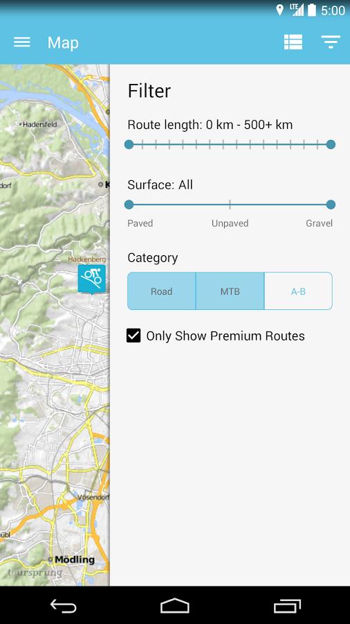 Bikemap - Your bike routes - screenshot
