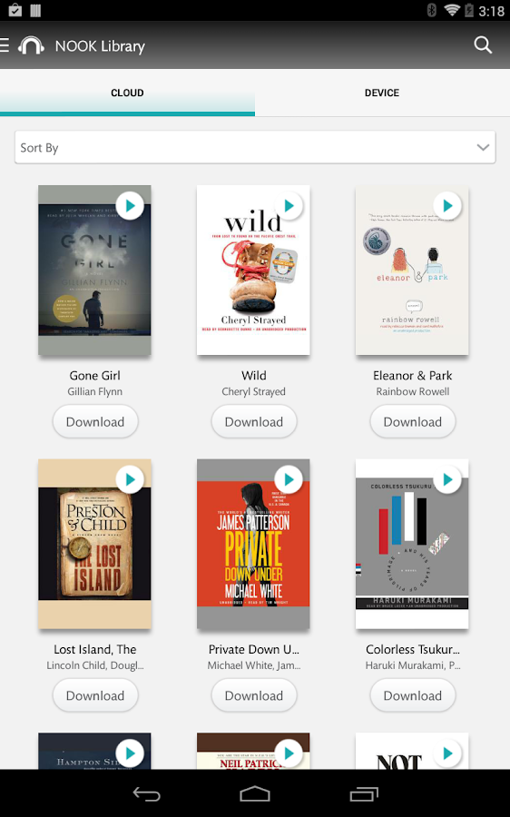NOOK Audiobooks- screenshot