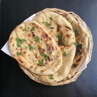 Butter Garlic Naan without Tandoor/Oven