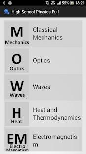 High School Physics - Free - screenshot thumbnail