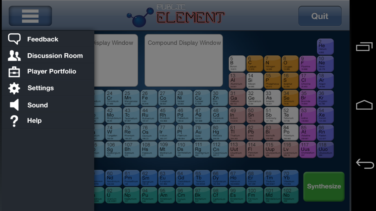 Periodic table game android apps on google play periodic table game screenshot gamestrikefo Images