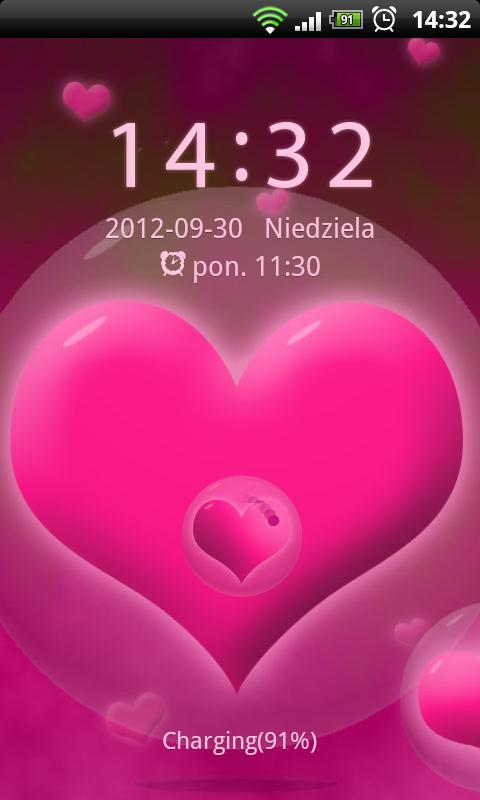 GO Locker Hearts Theme - screenshot