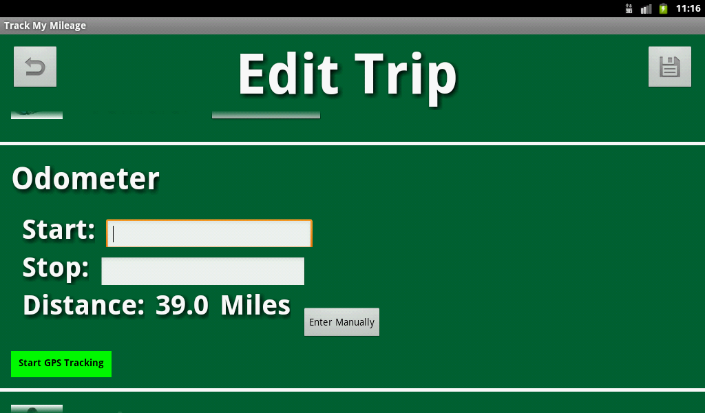 Track My Mileage- screenshot