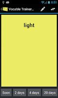 Screenshot of Vocabulary Trainer Flashcards