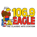106.9 The Eagle logo