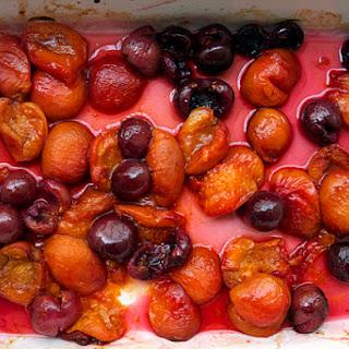 Lemon Yogurt Cake with Apricot-Cherry Compote