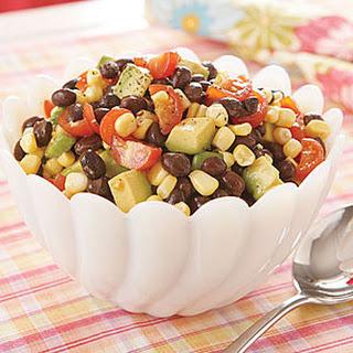 Black Bean, Corn and Cherry Tomato Salad.