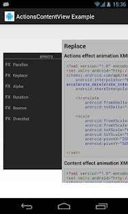 ActionsContentView Example - screenshot thumbnail