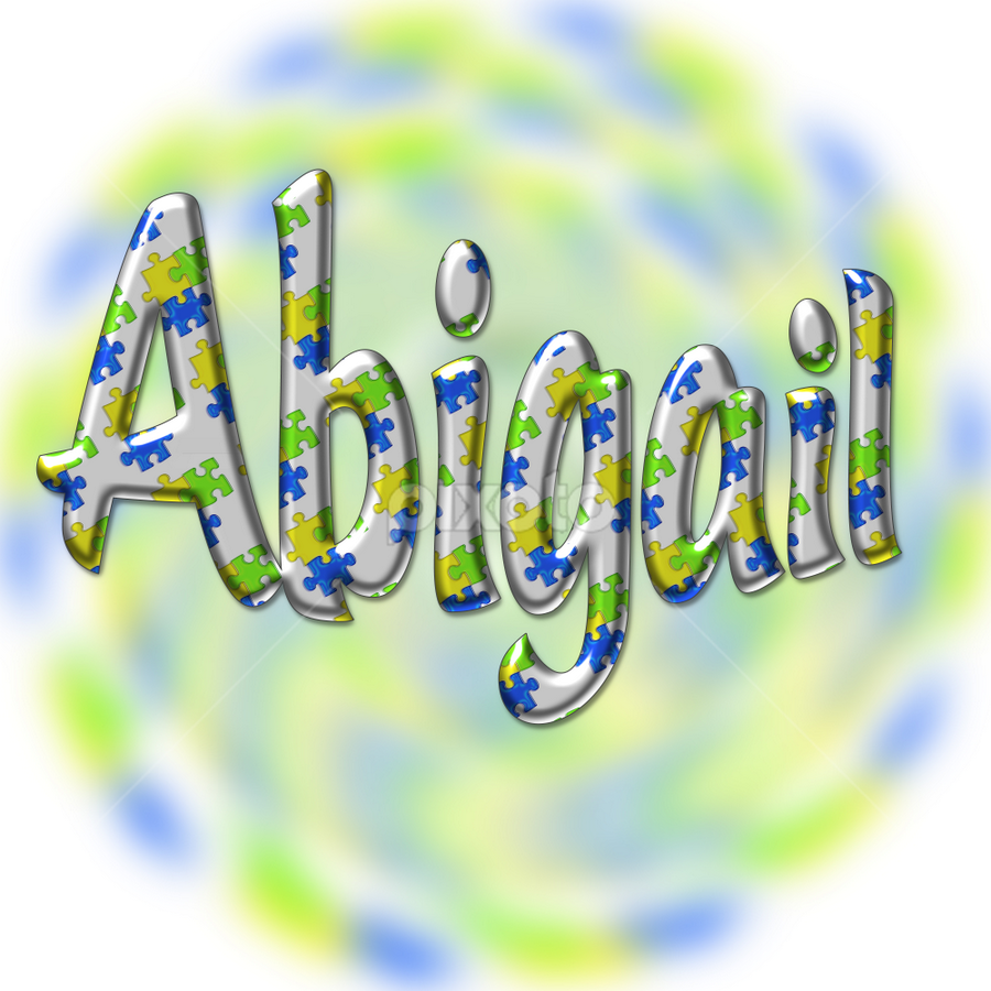 Abigail by Dipali S - Typography Words ( puzzle, creation, font, green, illustration, wallpaper, print, pattern, blue, name, artistic, alphabet, metallic, baby, typography, magnet, english, design )