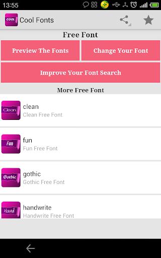 Free Cool Fonts for FlipFont