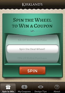 Kirkland's Spin to Win screenshot 0