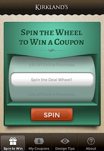 Kirkland's Spin to Win- screenshot thumbnail