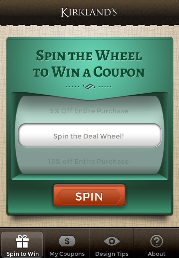 Kirkland's Spin to Win- screenshot