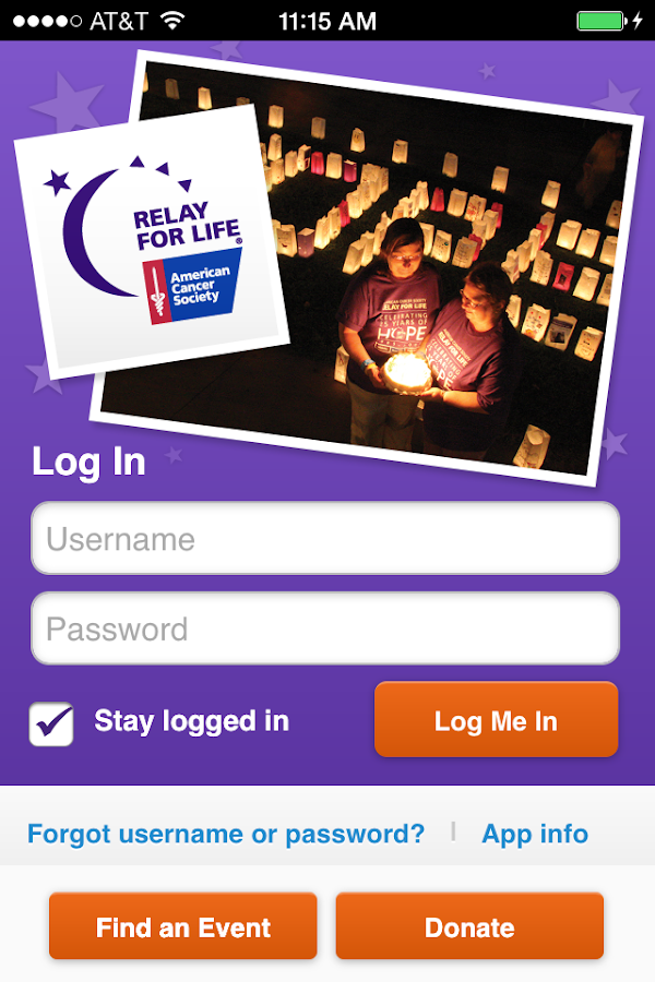 Relay For Life - screenshot