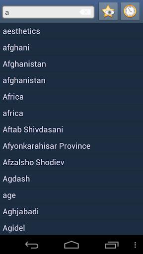 English Tajik Dictionary +