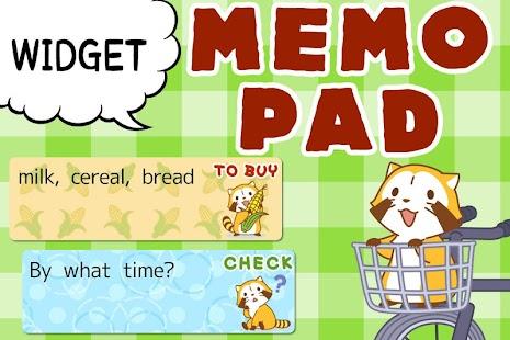 玩個人化App|MEMO PAD WIDGET araigumarascal免費|APP試玩