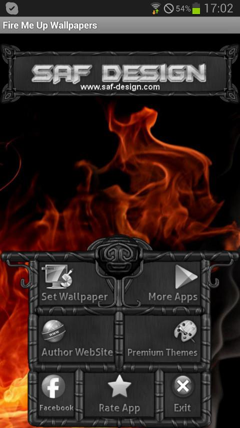 Fire Me GO Launcher EX theme - screenshot