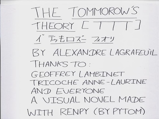 The Tomorrow's Theory Update