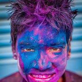 Festival of colors by Shaik Mohaideen - Public Holidays Thanksgiving ( color, india, holi, boy, chennai,  )