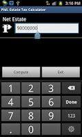Screenshot of Philippine Estate Tax Calc.