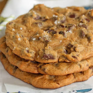 Giant Salted Pumpkin Chocolate Chunk Cookies.
