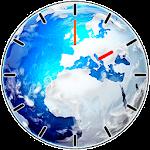 Beautiful Earth Clock Widget