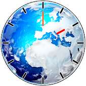 Beautiful Earth Clock Widget